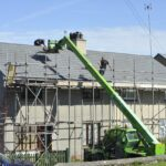 local roofing contractor working on roof